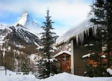 Swiss alpine resort stock photos