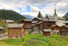 Free Swiss Alpine Settlement Blatten Stock Photography - 24717572