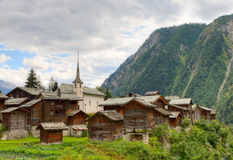 Swiss alpine settlement Blatten, Switzerland Royalty Free Stock Photo