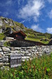 Swiss Alpine station. Belalp, Valais, Switzerland. Royalty Free Stock Photos