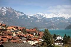 Swiss alpine village. In region Interlaken stock photos