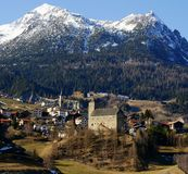 Swiss Alpine Village Stock Image