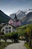 Swiss Alpine village stock photo
