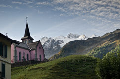 Swiss Alpine village Royalty Free Stock Photos