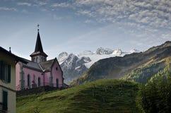 Swiss Alpine village royalty free stock photos