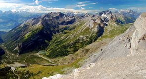 Swiss alps. View of the Swiss Alps-Europe Royalty Free Stock Image