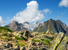 Swiss Alps. By summer time Stock Photo