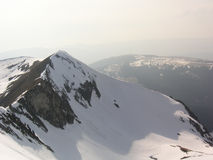 Swiss alps. The Swiss Alps, view of a snow-covered peak Royalty Free Stock Photo