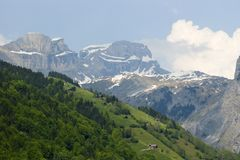 Swiss Alps. On begin of spring Stock Photography