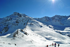 Swiss alps. Landscape of swiss alps during winter Royalty Free Stock Images