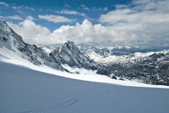 Swiss alps. During winter in simplon pass area Stock Images