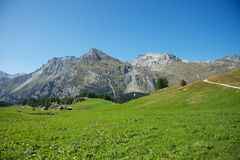 Swiss Alps. Hiking in the swiss alps (Maloja Stock Photography