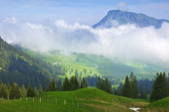 Swiss Alps. Mountain landscape, early morning high in the Swiss Alps Royalty Free Stock Photos