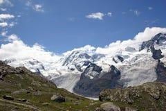 Swiss Alps. A view of the Alps surrounding the Matterhorn, near Zermatt, Switzerland Stock Photography