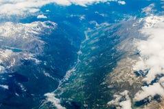 swiss alps aerial view of the alpine region of switzerland Royalty Free Stock Image