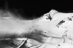 Swiss Alps. Aerial view of beautiful Swiss Alps surrounded by floating cloud in Zermatt, Switzerland stock photo