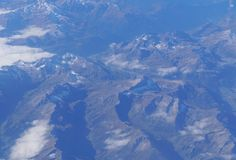 Swiss Alps, aerial view Royalty Free Stock Images