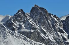 Swiss Alps: Aiguille de la Tsa. Swiss Alps.  The Aiguille de la Tsa in the Herens Valley Stock Images