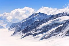 Swiss Alps Aletsch Glacier Jungfrau Stock Images