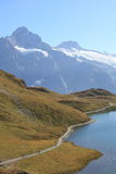 Swiss Alps and Bachalpsee Royalty Free Stock Photo