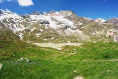 Swiss Alps. Bernina Pass, view of the Swiss Alps, Switzerland Royalty Free Stock Images
