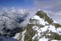 Swiss Alps. A birdseye view of the Swiss Alps Stock Photography