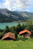 Swiss alps - brienzersee Royalty Free Stock Photography