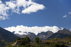 Swiss Alps with clouds Royalty Free Stock Images