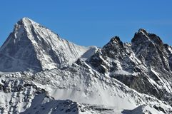 Swiss Alps: Dents Blanche and Vesuvie Royalty Free Stock Image