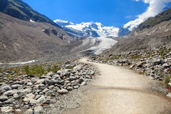 Swiss Alps Glacier Nature Trail Royalty Free Stock Photos