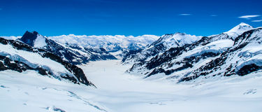 Swiss Alps. Gorgeous Swiss Alps, photographed from the top of Jungfrau. Switzerland, summer Stock Photo