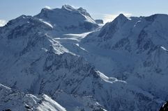 Swiss Alps Grand Combin Royalty Free Stock Images