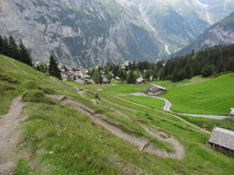 Swiss Alps Hiking Trail Stock Image
