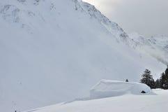 Swiss Alps Hut Landscape Stock Photos