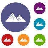 Swiss alps icons set Stock Photography