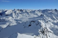 Swiss Alps including Matterhorn and Dent Blanche Royalty Free Stock Photos