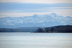 Swiss Alps  at Lake Constance Stock Photos