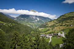 Swiss Alps landscape royalty free stock photography
