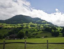 Swiss Alps landscape Stock Photo