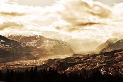 Swiss Alps, landscape Royalty Free Stock Images