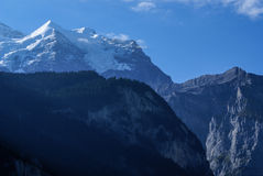 Swiss Alps landscape near Interlaken in Europe. Stock Photo