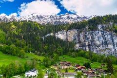Swiss Alps.  Lauterbrunnen, Switzerland,Europe Stock Photography