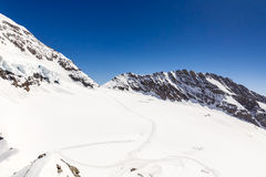 Swiss Alps mountain range, Jungfraujoch, Switzerland Royalty Free Stock Images