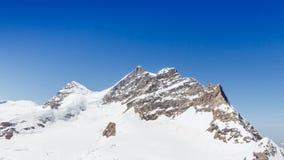 Swiss Alps mountain range, Jungfraujoch, Switzerland Stock Photos