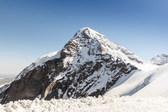 Swiss Alps mountain range, Jungfraujoch, Switzerland Stock Photos