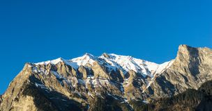Swiss Alps Mountain Vista Royalty Free Stock Photo