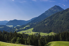 Swiss Alps mountains view Royalty Free Stock Image