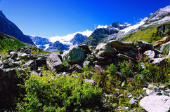 Swiss Alps near Matterhorn and Schwarzsee Stock Photography
