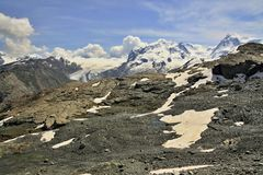 Swiss alps near mont  Matterhorn Royalty Free Stock Photography