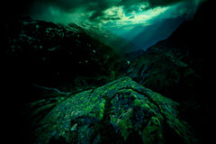 Swiss Alps at the night Stock Photography